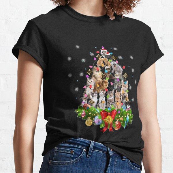 Funny Cat Christmas Tree Xmas Gifts Classic T-Shirt