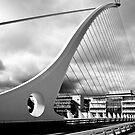 Beckett Bridge Over The River Liffey, Dublin, Ireland by Paul  Sloper