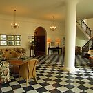 Reading room at Queen Vic Hotel by Antionette