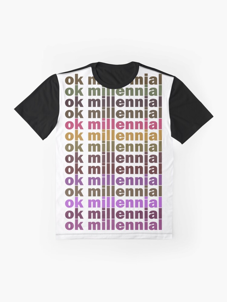 Alternate view of Ok Millennial Graphic T-Shirt