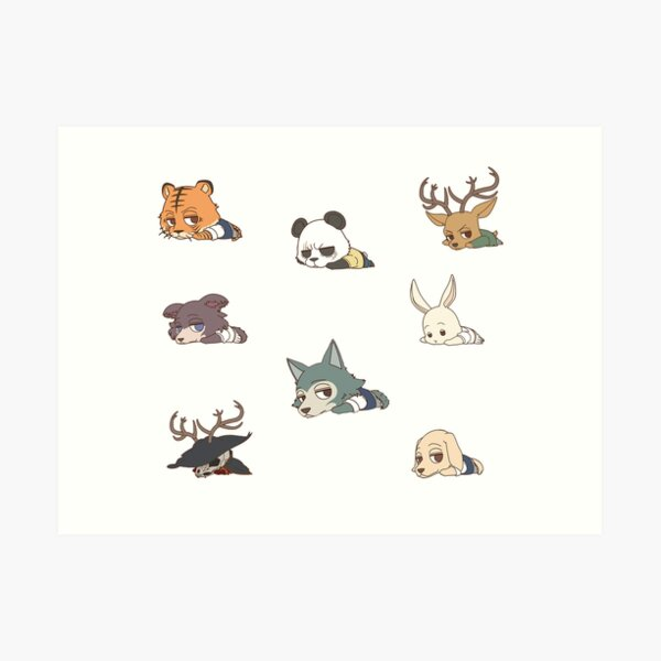 Beastars Mini Full Collection Art Print