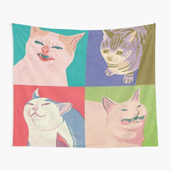 Four Meme Cats of the Apocalypse Tapestry