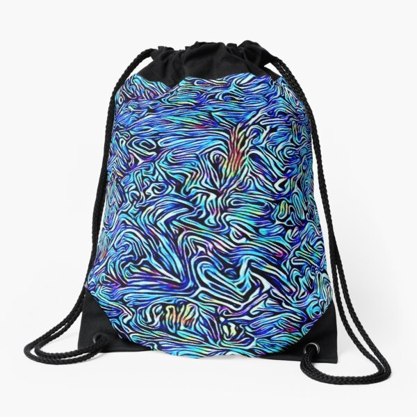 Blue Dreaming Drawstring Bag