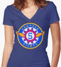 Seattle Pilots Women's Fitted V-Neck T-Shirt