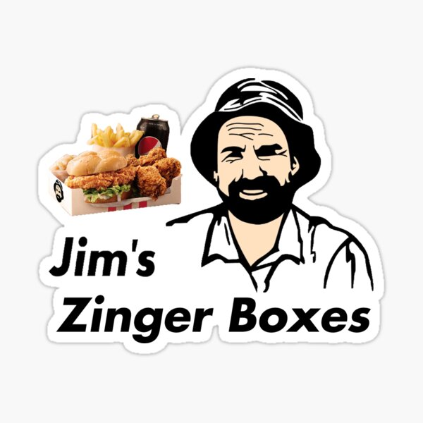 Jim's Zinger Boxes Sticker