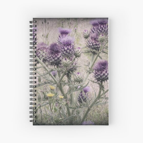 In a Thistle Field Spiral Notebook