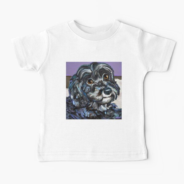 Cute and Cozy Schnoodle by Robert Phelps Baby T-Shirt