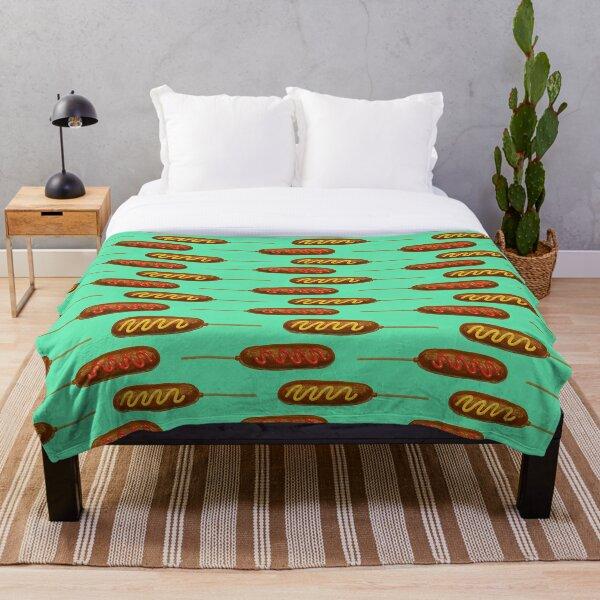 Corn Dogs Throw Blanket