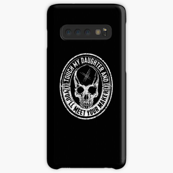 Protective Parent, Touch My Daughter and You'll Meet Your Maker (Black) Samsung Galaxy Snap Case