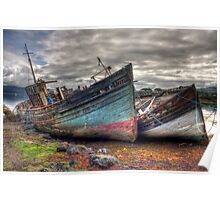 Salen ship wrecks Poster