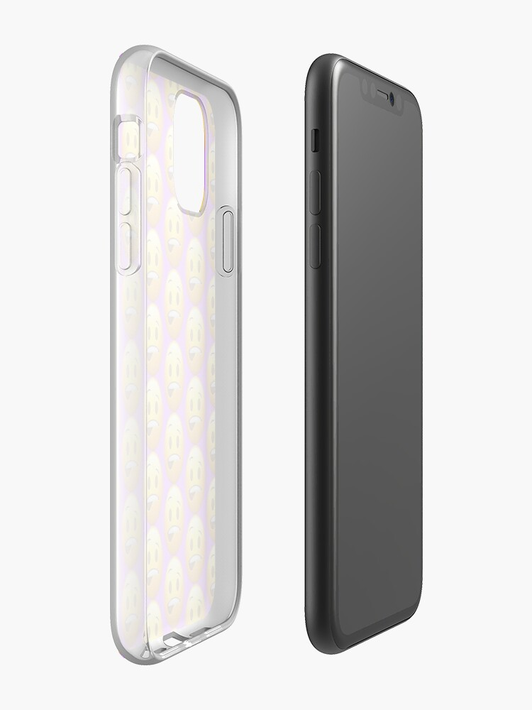 coque iphone 11 ultra fine | Coque iPhone « Emoji mordillant de lèvre », par stertube