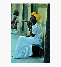 Cuban Lady Photographic Print