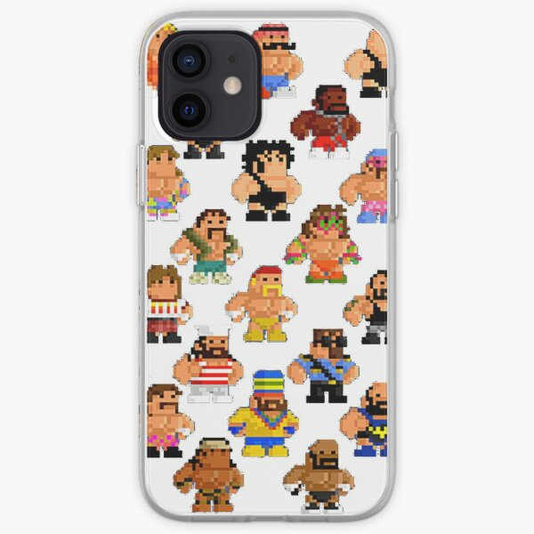 Old School 8 bit Wrestlers from the 80s-90s iPhone Soft Case