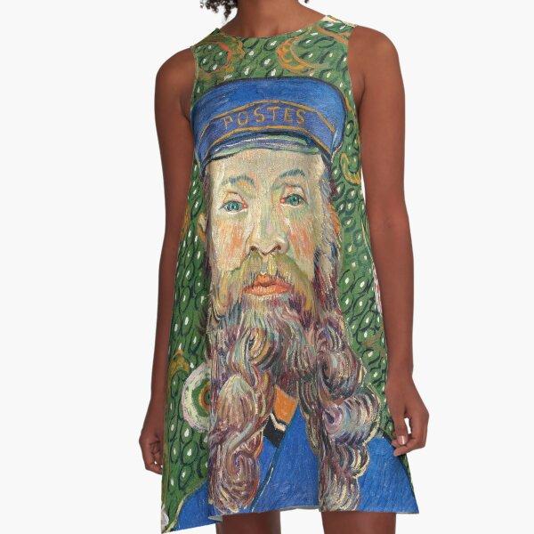Portrait of the Postman by Vincent van Gogh A-Line Dress