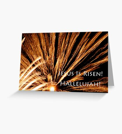 fireworks easter card Greeting Card