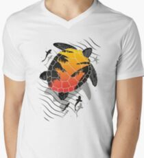 Red sun floating turtle  T-Shirt