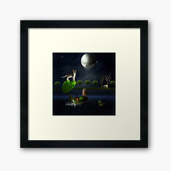 The Owl And The Pussycat.... Framed Art Print