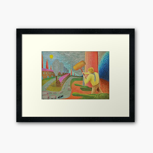 Brave New World  /   Society Framed Art Print