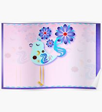 Spring Blue Bird Of Happiness  Poster