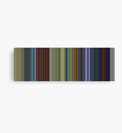 Moviebarcode: A Bug's Life (1998) [Simplified Colors] Canvas Print