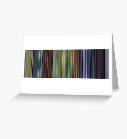Moviebarcode: A Bug's Life (1998) [Simplified Colors] Greeting Card