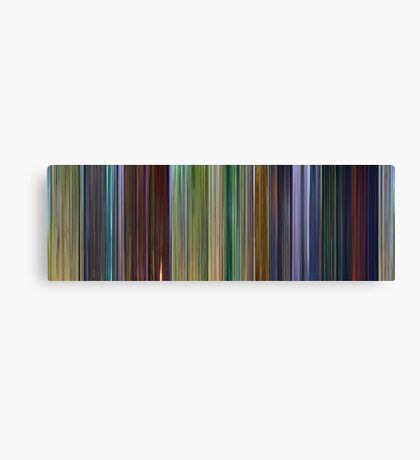 Moviebarcode: A Bug's Life (1998) Canvas Print