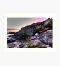 Beavertail Rock Formation Art Print