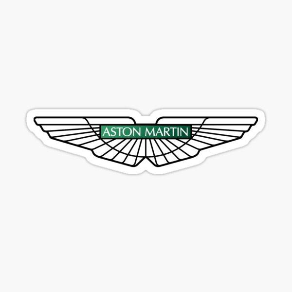 Aston martin Logo Tok Black Green Sticker