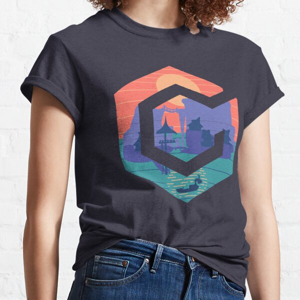 GameCube Outset Serenity Navy T-shirt classique