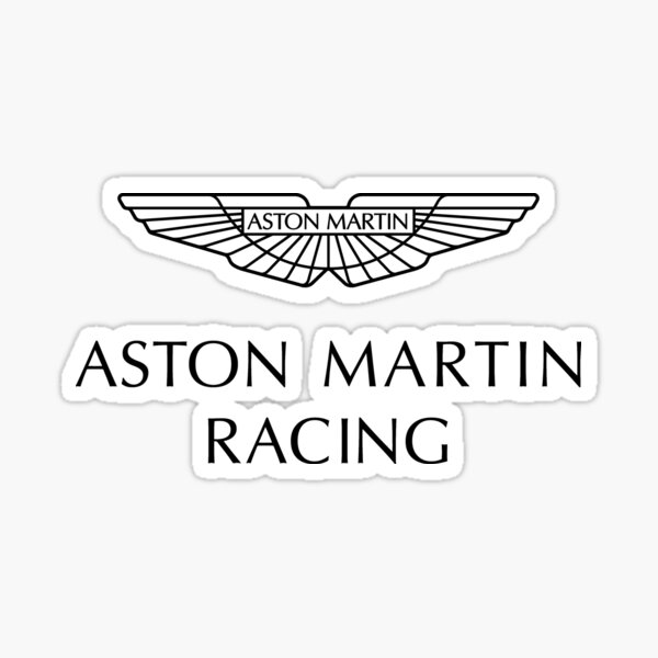 Aston Martin Racing Logo Noir Sticker