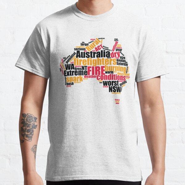 2019 Fire Season Australia - Firefighter WordArt - Light Bg Classic T-Shirt