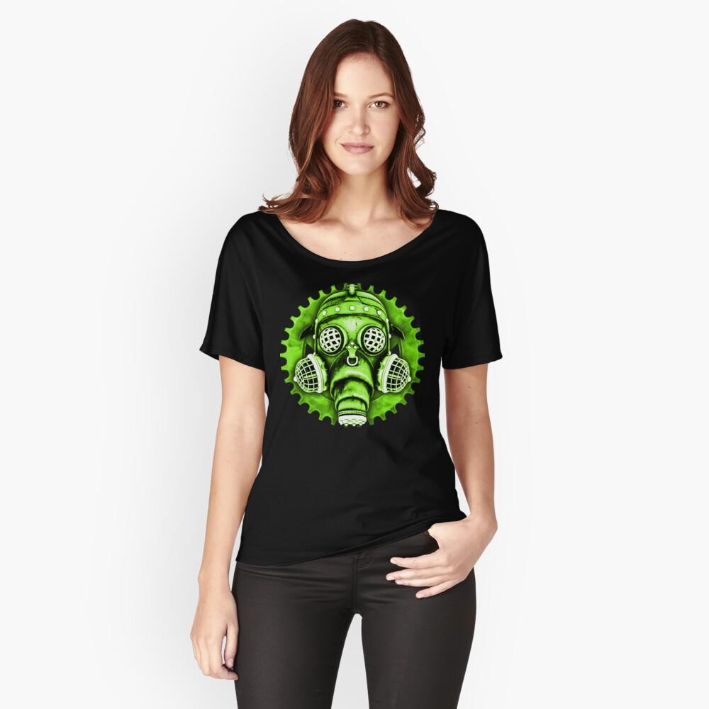 Steampunk / Cyberpunk Gas Mask #1E Steampunk T-Shirts Relaxed Fit T-Shirt