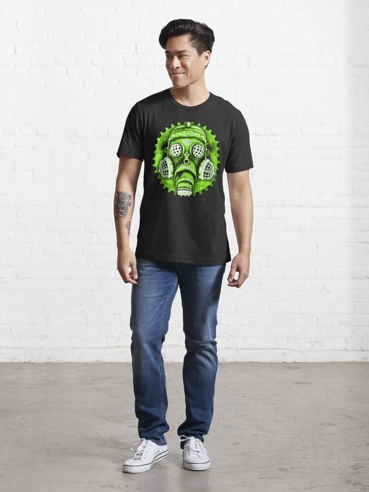 Alternate view of Steampunk / Cyberpunk Gas Mask #1E Steampunk T-Shirts Essential T-Shirt