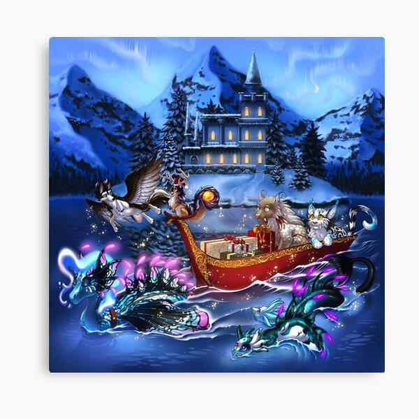 Sylestia - Fantasy Winter Art Background Canvas Print