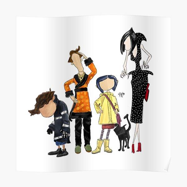 Coraline 12x17inch Animation Kids Silk Poster Wall Door Decoration