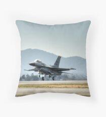 F16 (Moody Takeoff) Throw Pillow