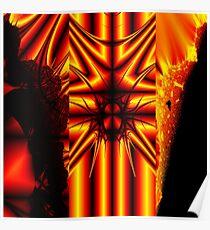 Fiery Fractals Poster
