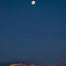 Moon at dusk by paulmcardle