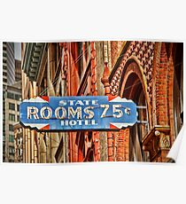Rooms 75 cents Poster