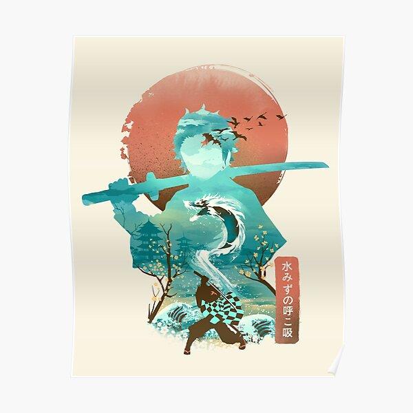 Ukiyo e Breath of Water Poster