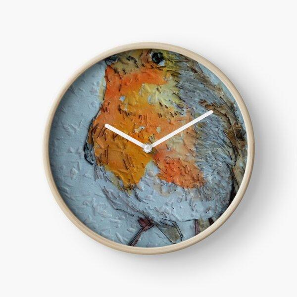 Robin Wallpaper Art Clock