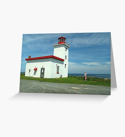 Caribou Island Lighthouse Greeting Card