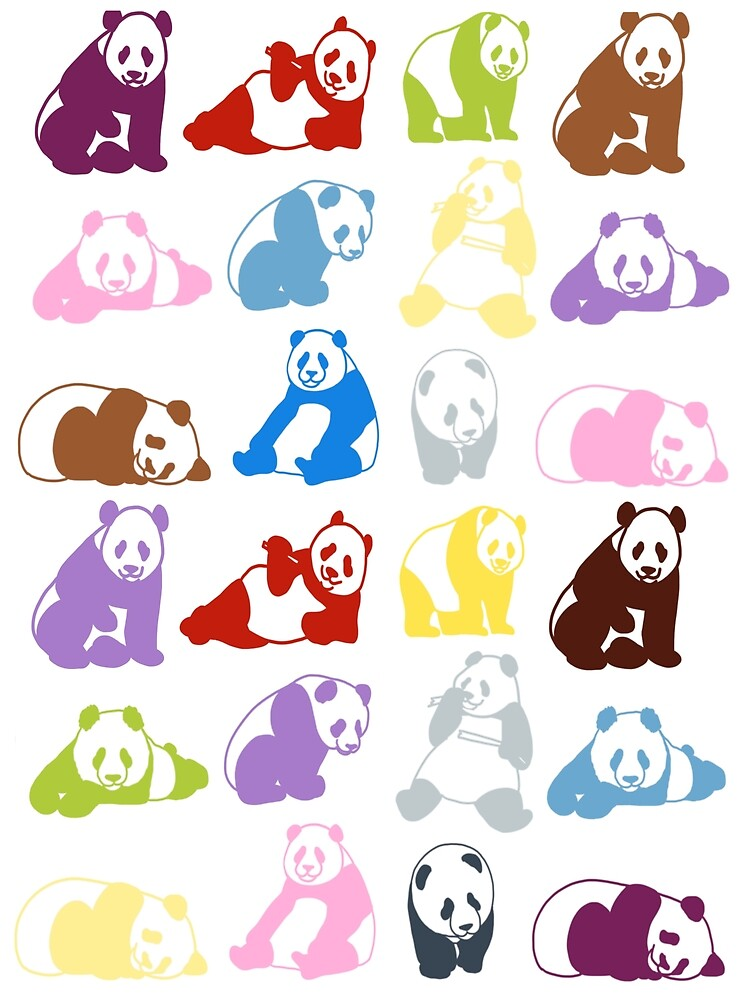 Colourful pandas by Quick2Draw