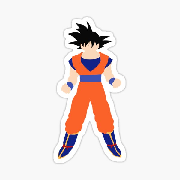 Goku Son Minimalist Sticker