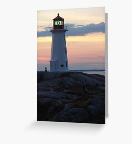 Lighthouse and Afterglow Greeting Card
