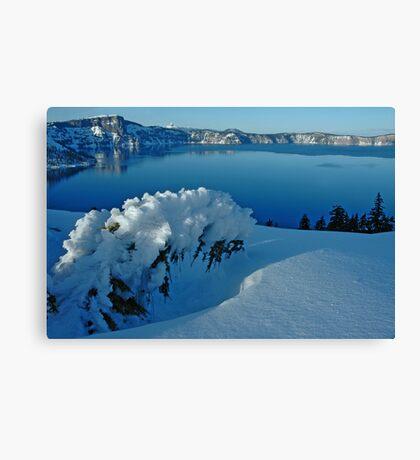 Crater Lake Winter Landscape 3 Canvas Print