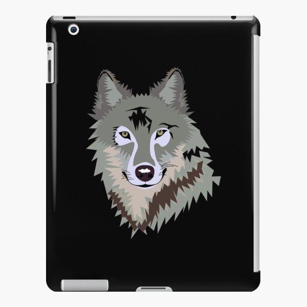 Happy Grey Wolf iPad Snap Case