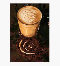 Latte Art- swirl2 Photographic Print