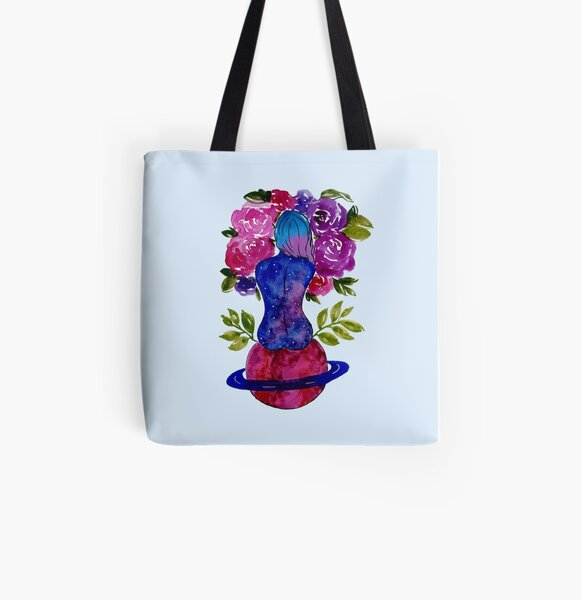 Lady Saturn  All Over Print Tote Bag