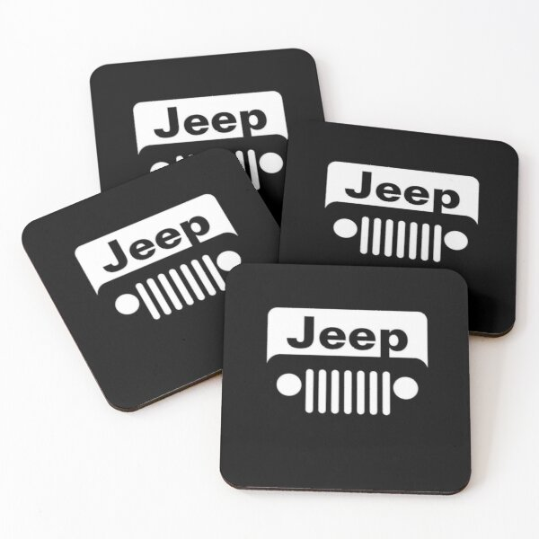 Black And White Jeep Coasters (Set of 4)